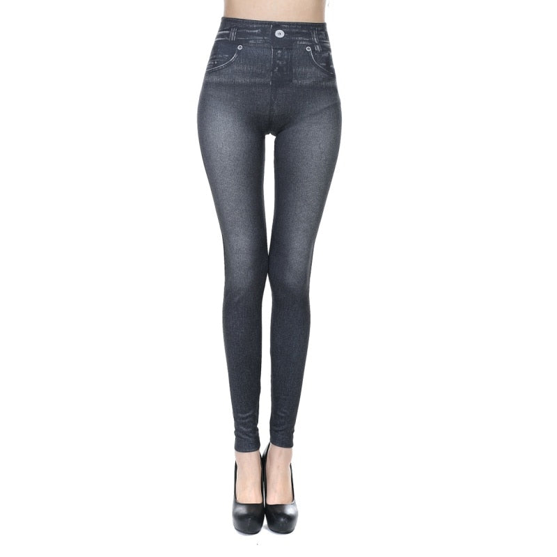 High Waist Elastic Jeggings Female Fitness Leggings