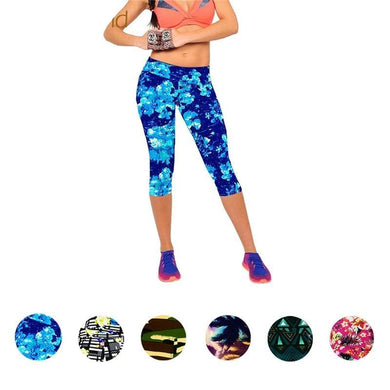 Blossom High Waist Capri Leggings