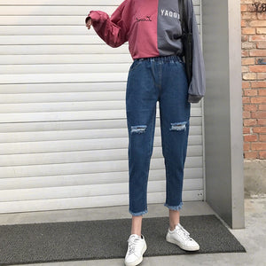 Cool Denim High Waist Pants