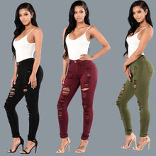 Summer Style Hole Ripped Jeans Women Jeggings