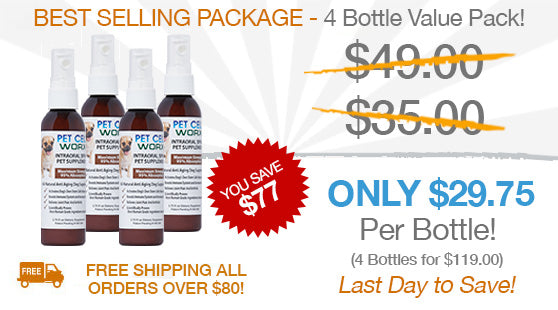 Pet Cell Worx Discounted Rate - 4 Bottle Value Pack