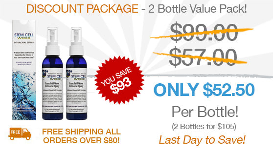Stem Cell Worx Discounted Package - 2 Bottle Value Pack