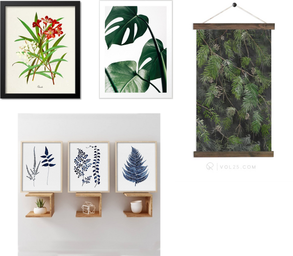 forest / botanical art prints