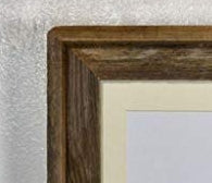 wooden frame with wooden mat