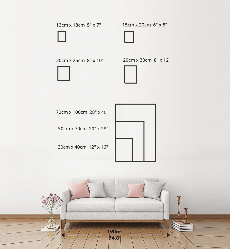 Portrait sizing chart common sizes