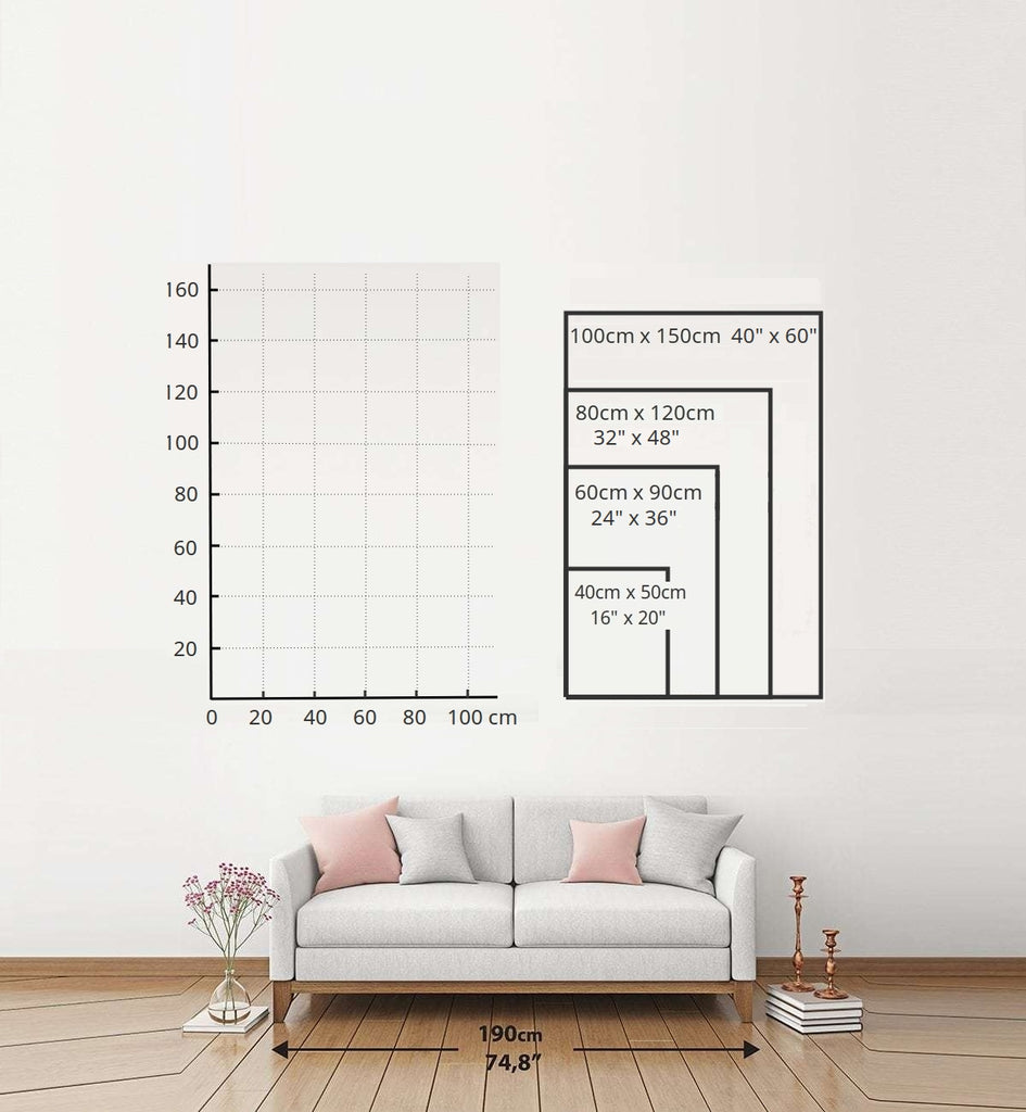 Portrait sizing chart bigger and non-standard sizes