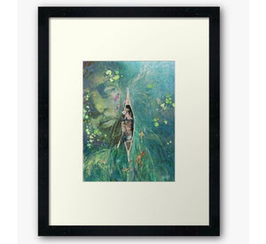 Beneath the Lillies - watercolor zen art print
