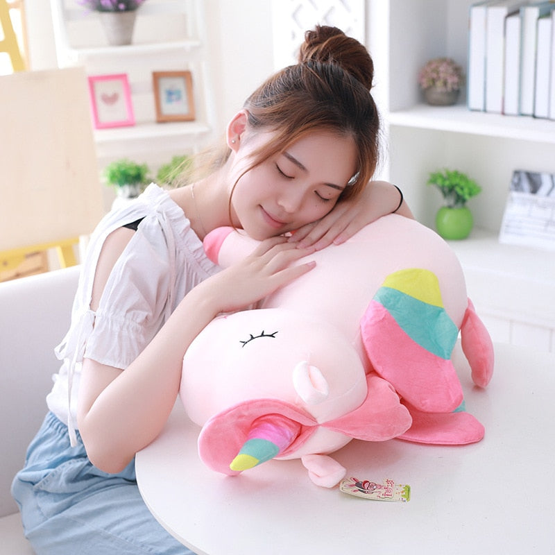 Lovely winged unicorn plush toy