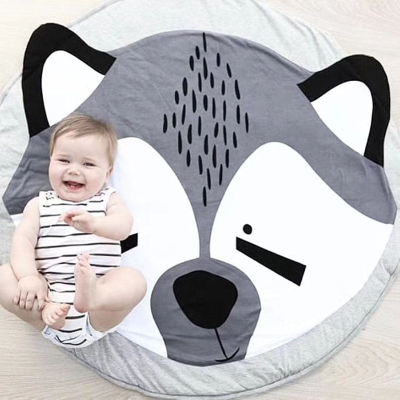 Woodland animal play mat for babies