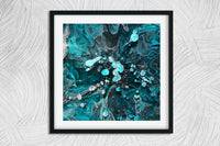 NGC 628 - abstract resin art print