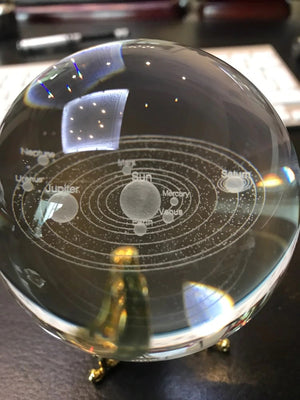 Crystallized Solar System for astronomy fans