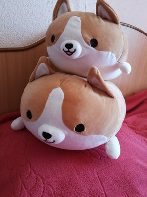 Corgi dog plush toy