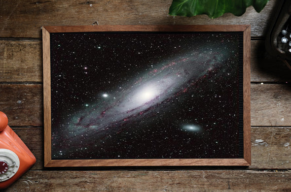 Andromeda galaxy silk fabric art print for astronomy fans