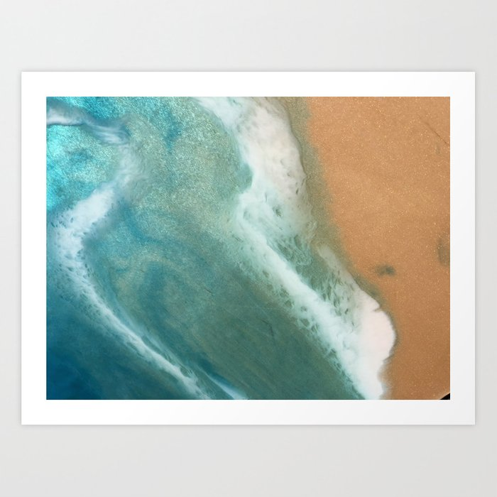 Ashore - seascape abstract resin art print