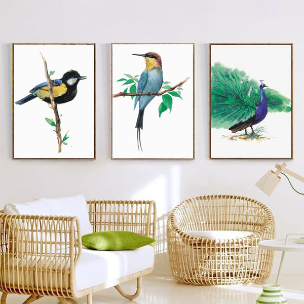 Bee-eater - watercolor bird art print for nature lovers