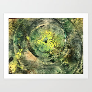 Faery Fire - abstract resin acrylic art print