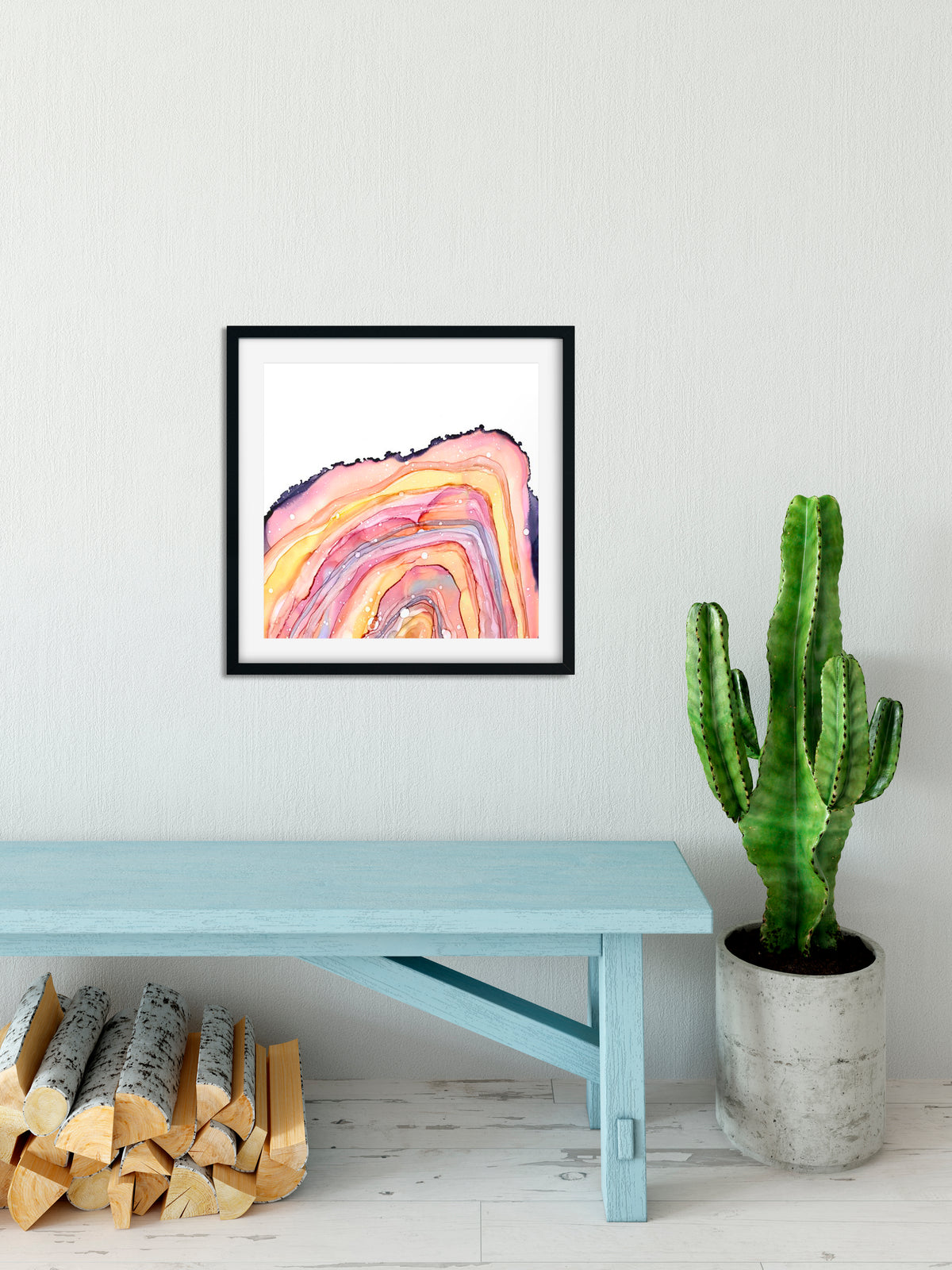 Pink Geode - abstract resin art print
