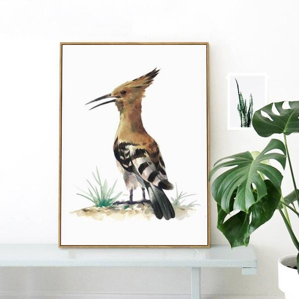 Hoopoe - watercolor bird art print for nature lovers