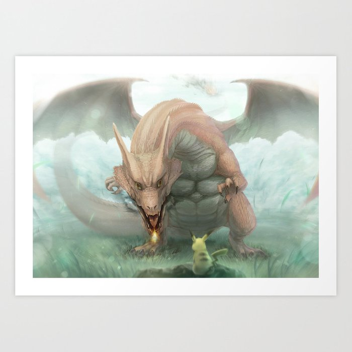 David vs Goliath - pokémon anime art print