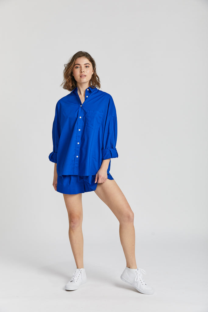 The Chiara Shirt - Royal Blue