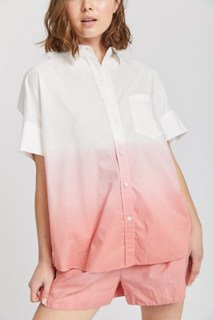 Sunset Short Sleeve Shirt - Ombre Blush