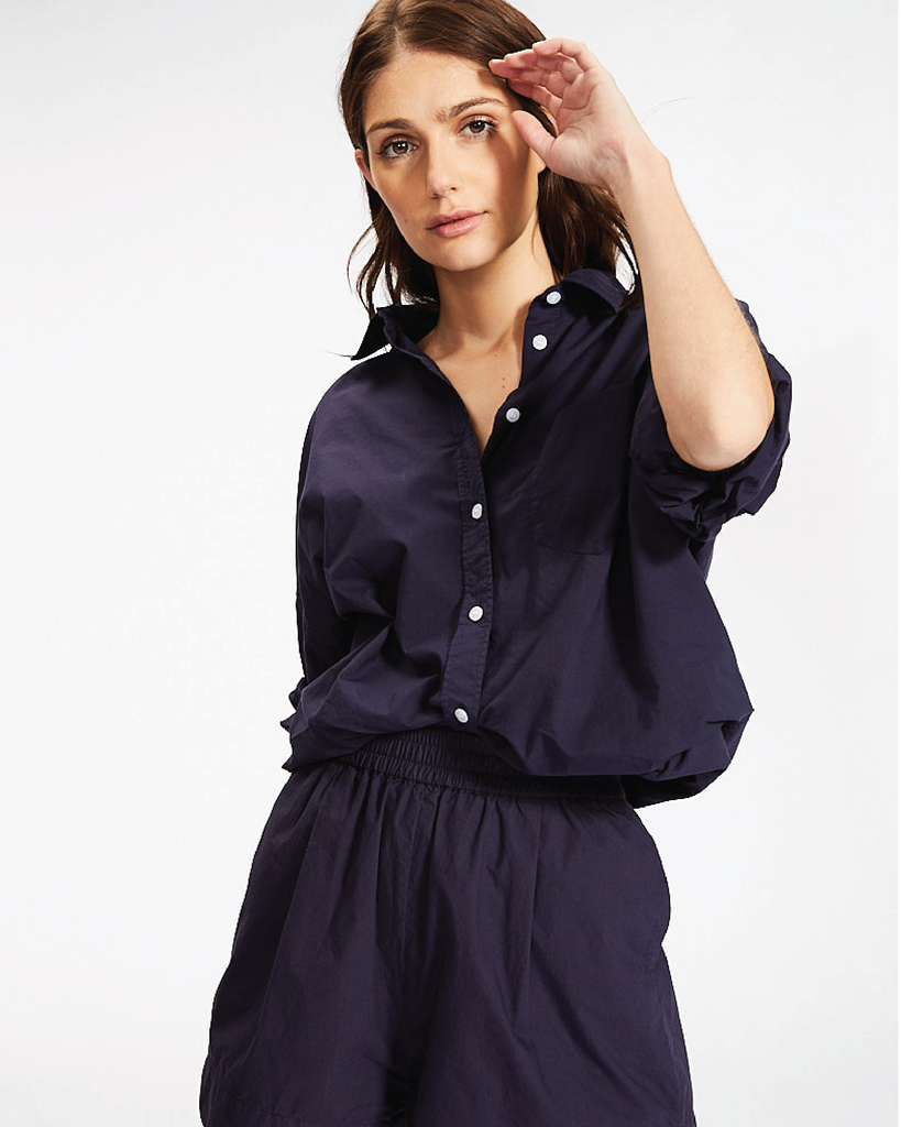 The Chiara Shirt - Navy