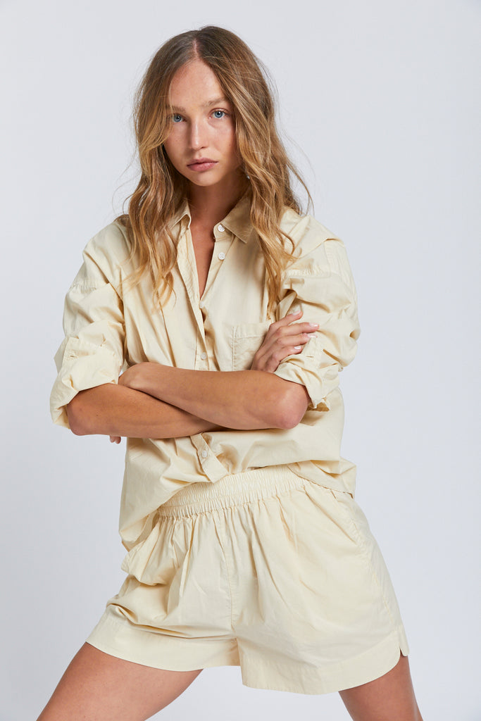 The Chiara Shirt - Soft Yellow
