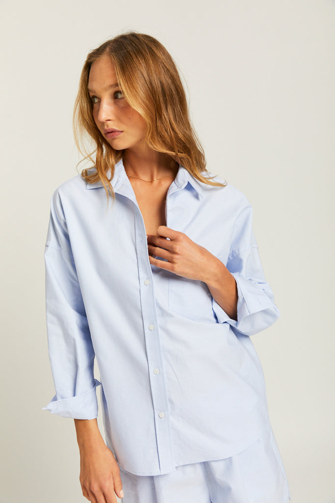 The Oxford Chiara Shirt - Light Blue