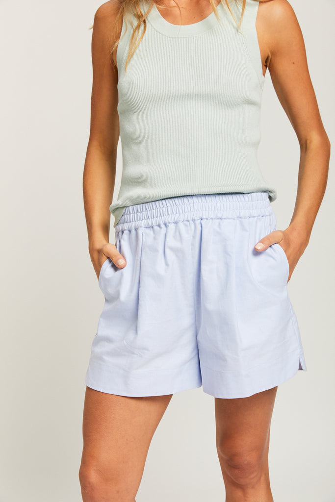 The Oxford Chiara short - Light Blue