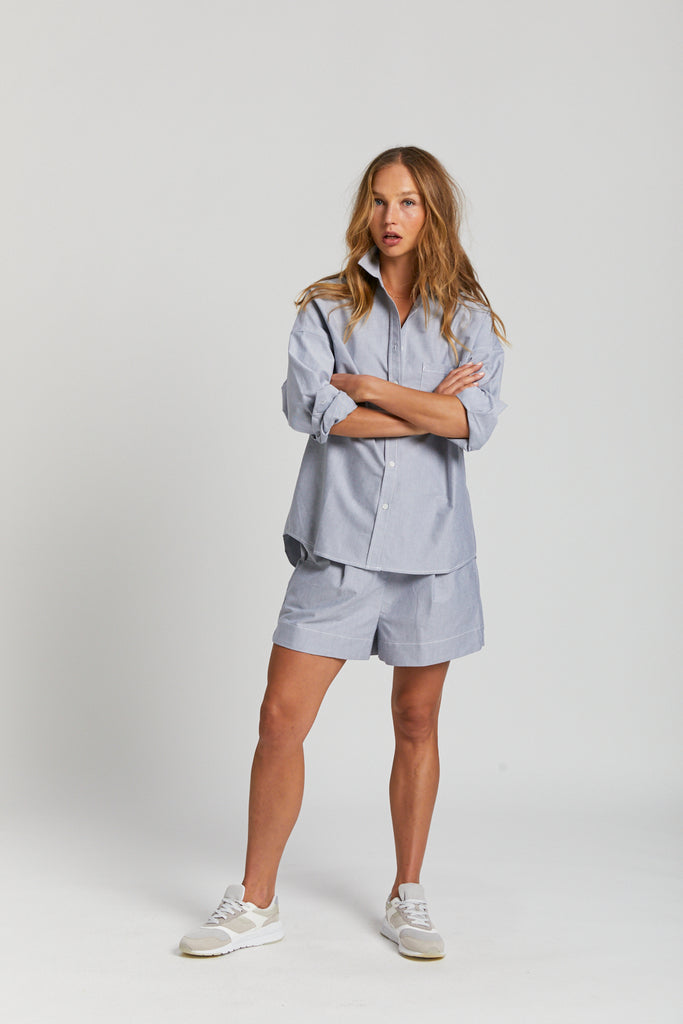 The Oxford Chiara Shirt - Light Grey