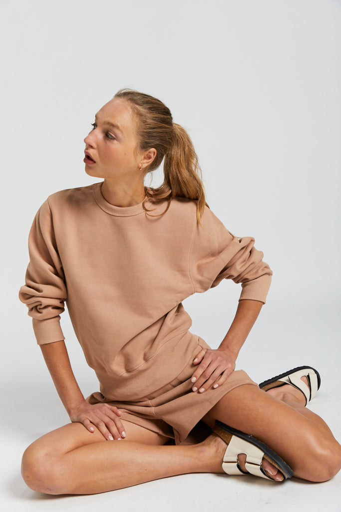 Boston Sweatshirt - Nude