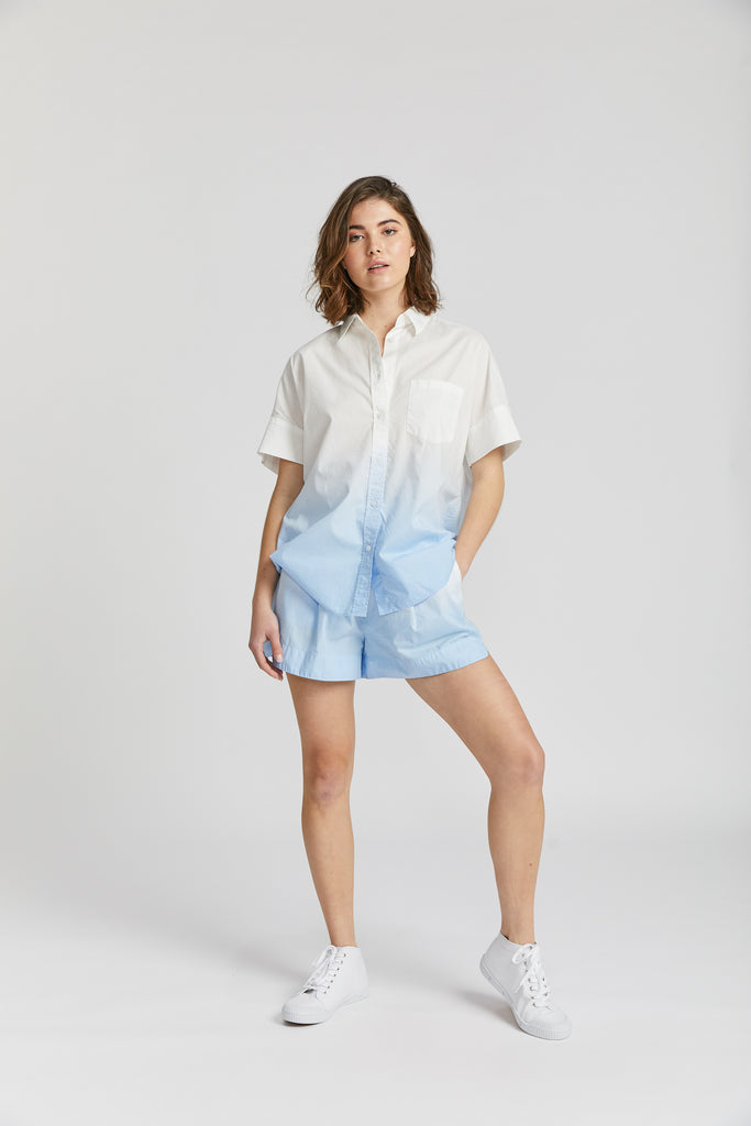 Sunset Short Sleeve Shirt - Ombre Sky