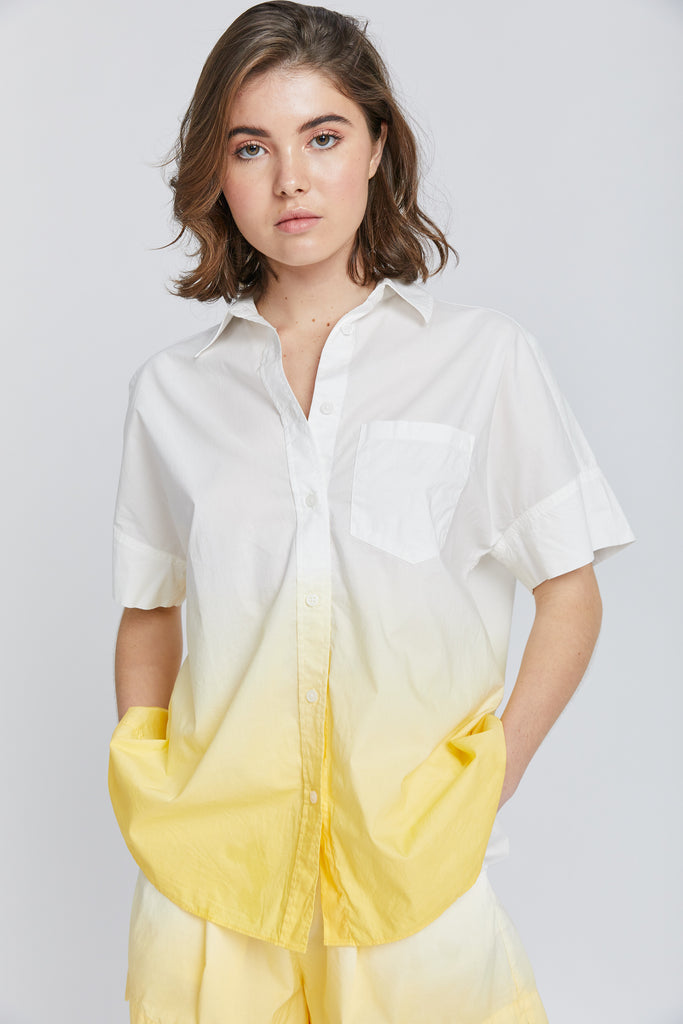 Sunset Short Sleeve Shirt - Ombre Limoncello