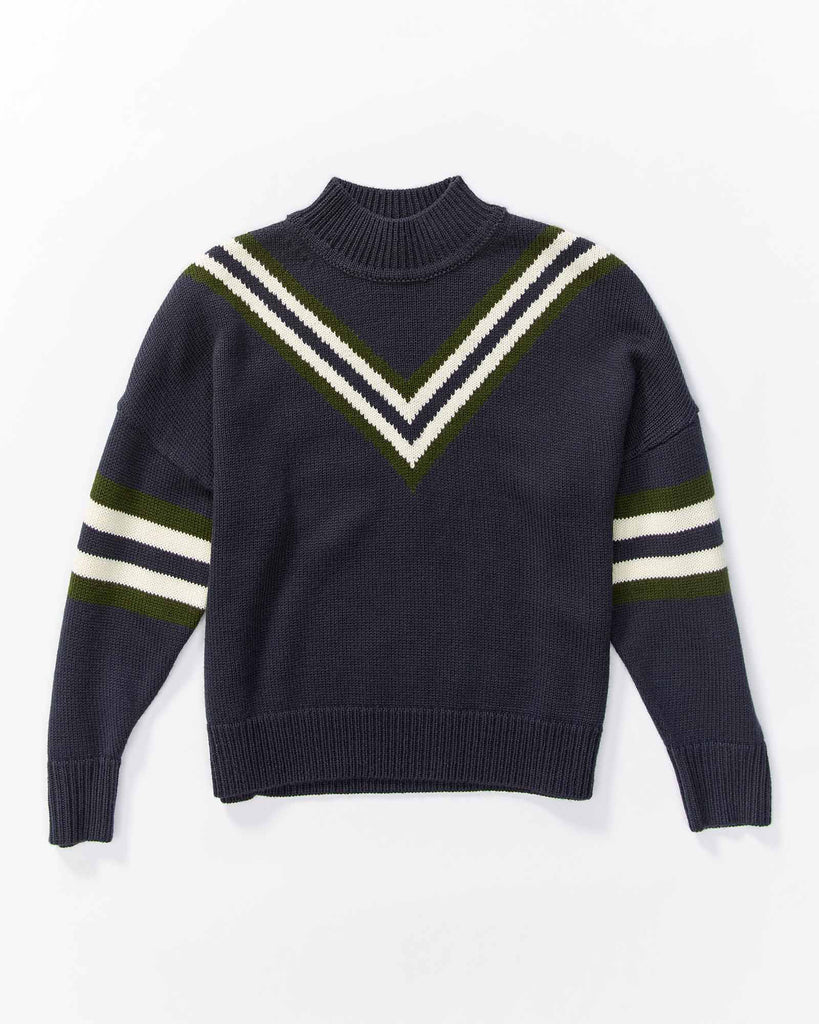 Rugby Jumper - Navy Stripe