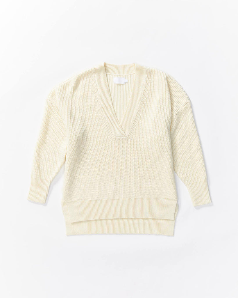 V-neck Knit - White