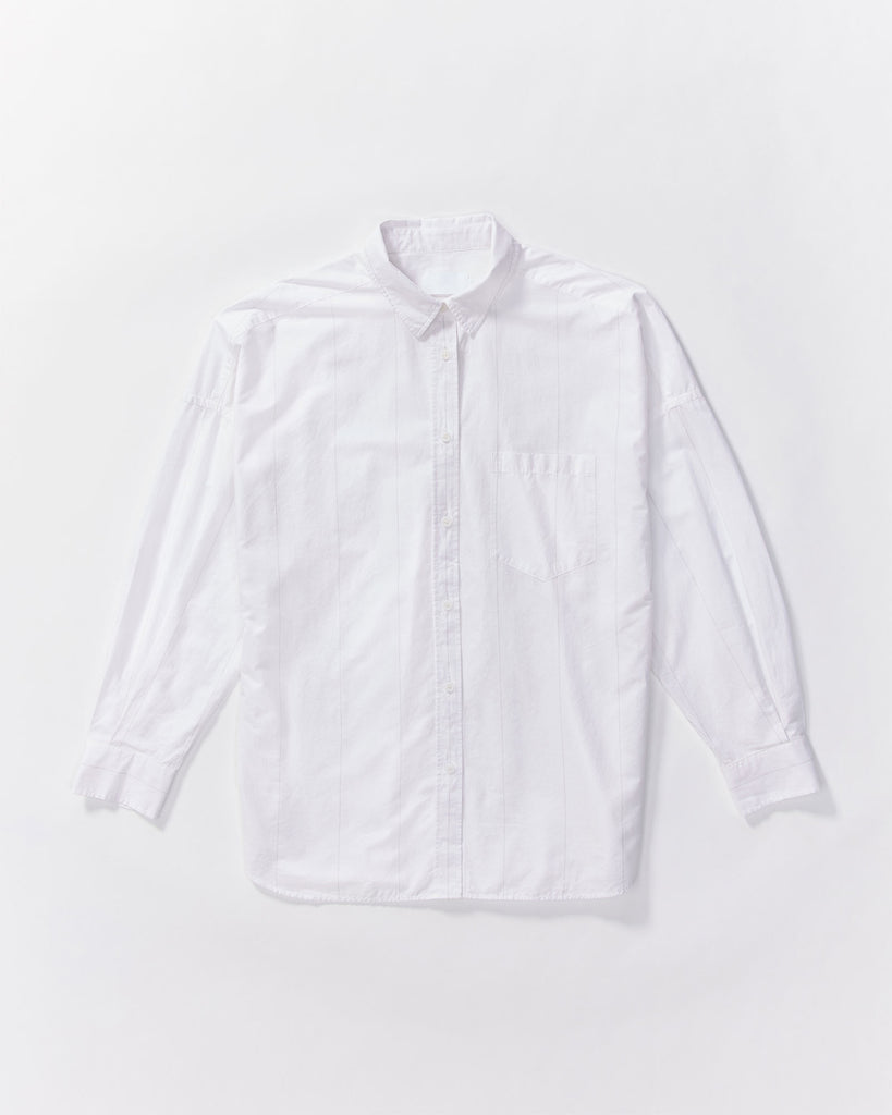 The Chiara Shirt - Grey Stripe