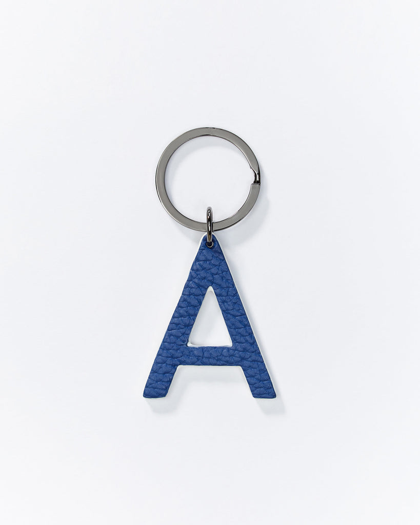 Alphabet key rings - Navy/Silver