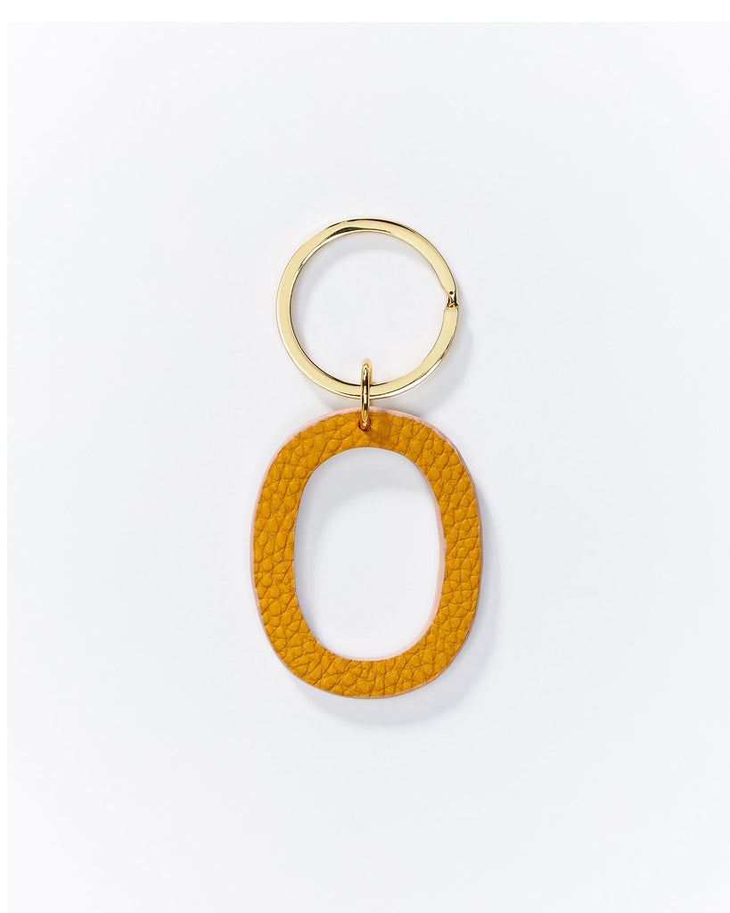 Alphabet key rings - Yellow/Gold Available from A to Z