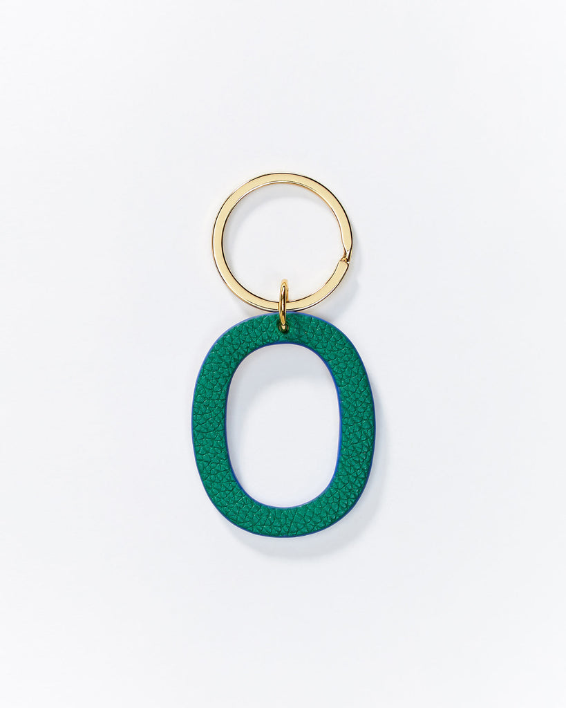 Alphabet key rings - Green/Gold
