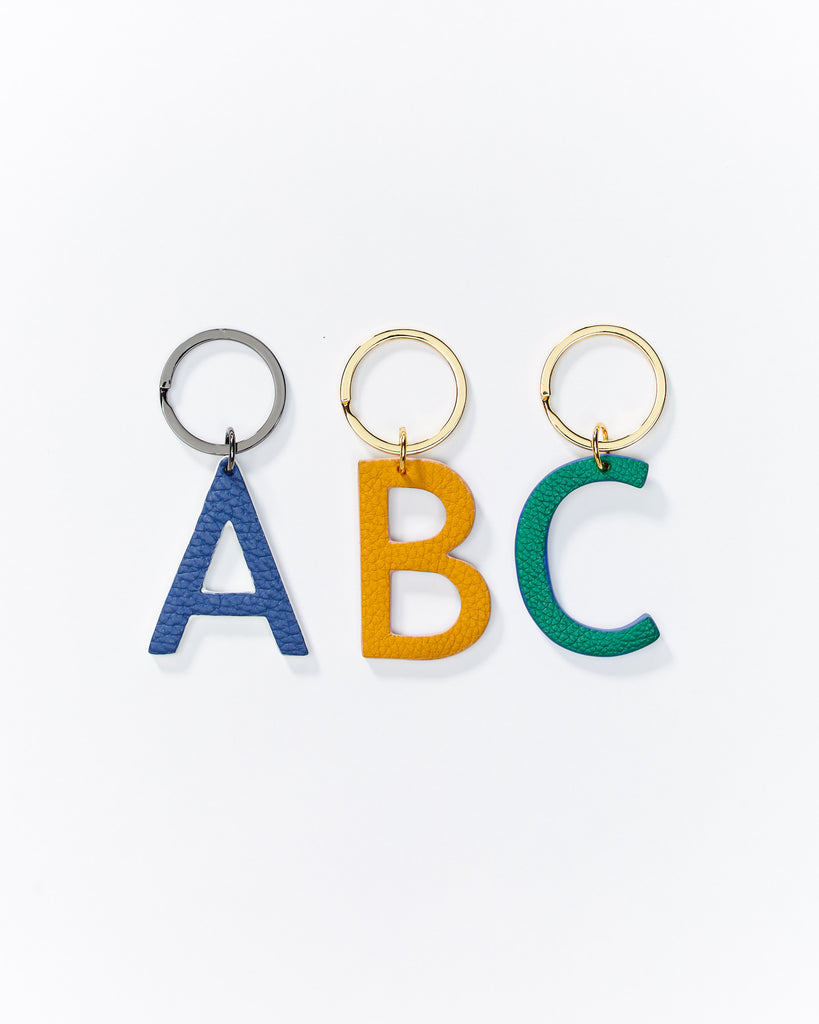 Alphabet key rings - Green/Gold Available from A to Z