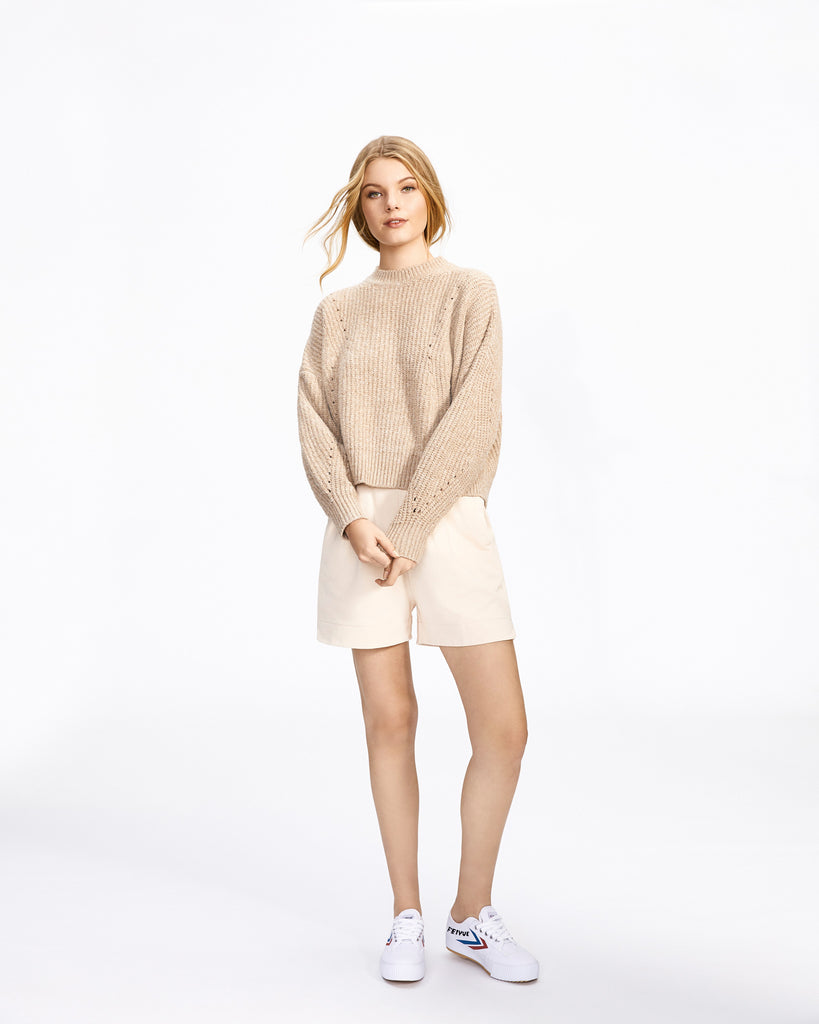 Pointelle Knit - Oatmeal