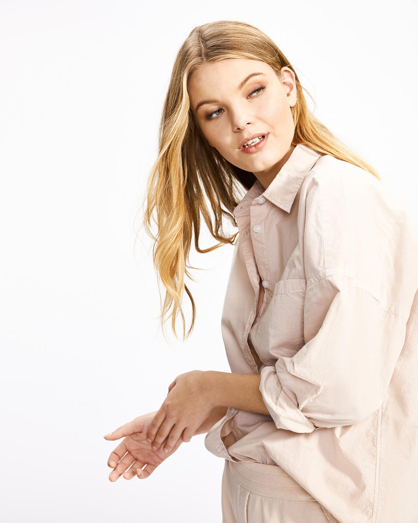 The Chiara Shirt - Powder Pink