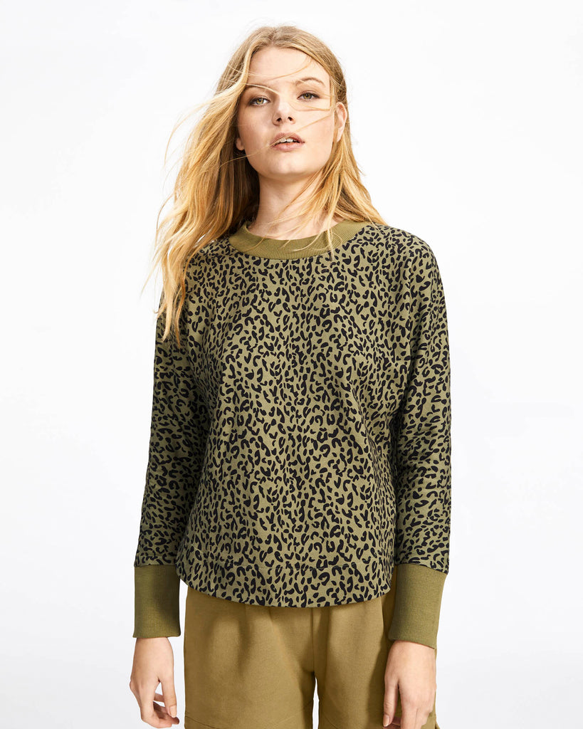 Cali Sweat Shirt - Leopard Print