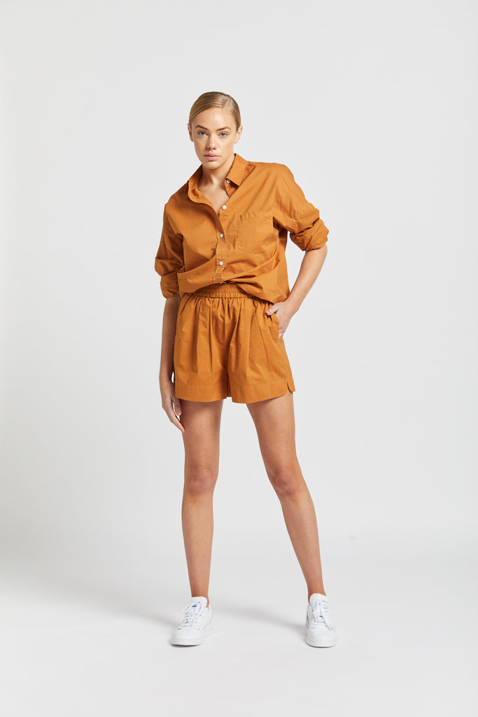 The Chiara Shirt - Tobacco