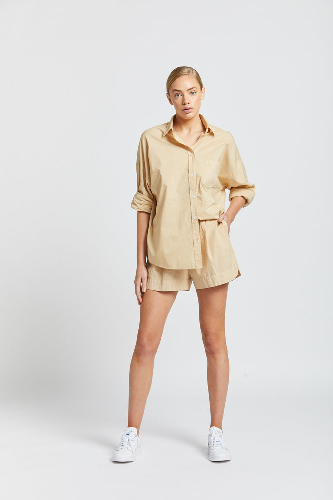 The Chiara Shirt - Caramel
