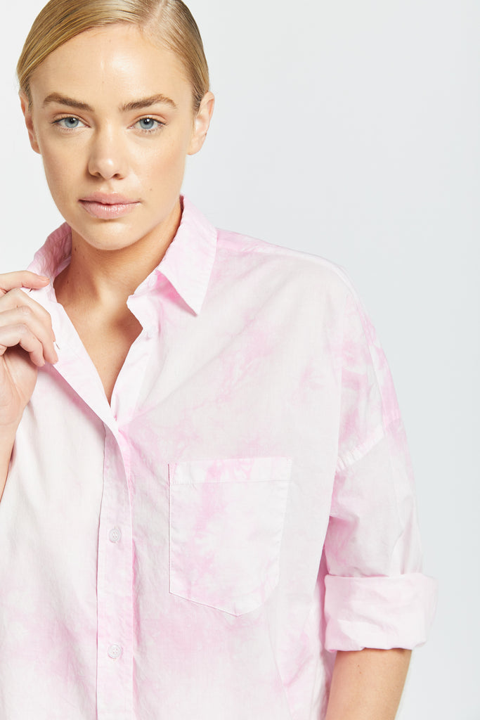 The Chiara Shirt - Tie Dye Pink Gelato