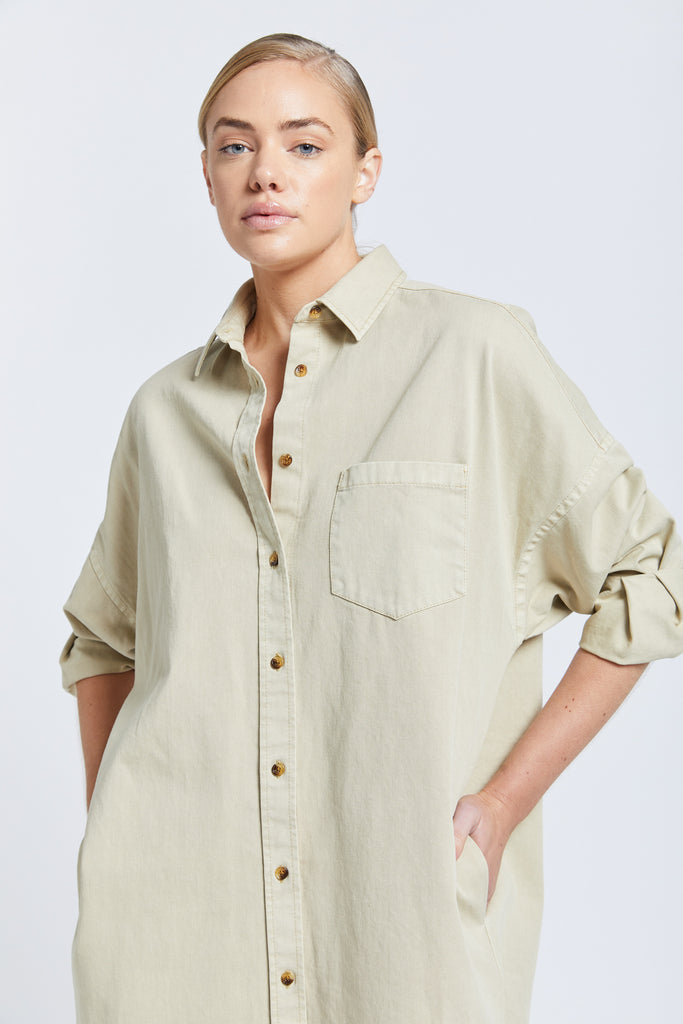 The Diaz shirt dress - Stone