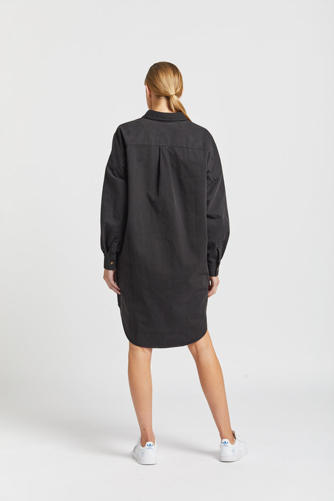 The Diaz shirt dress - black
