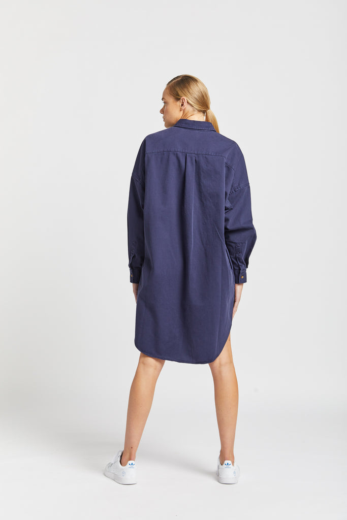 The Diaz shirt dress - Navy