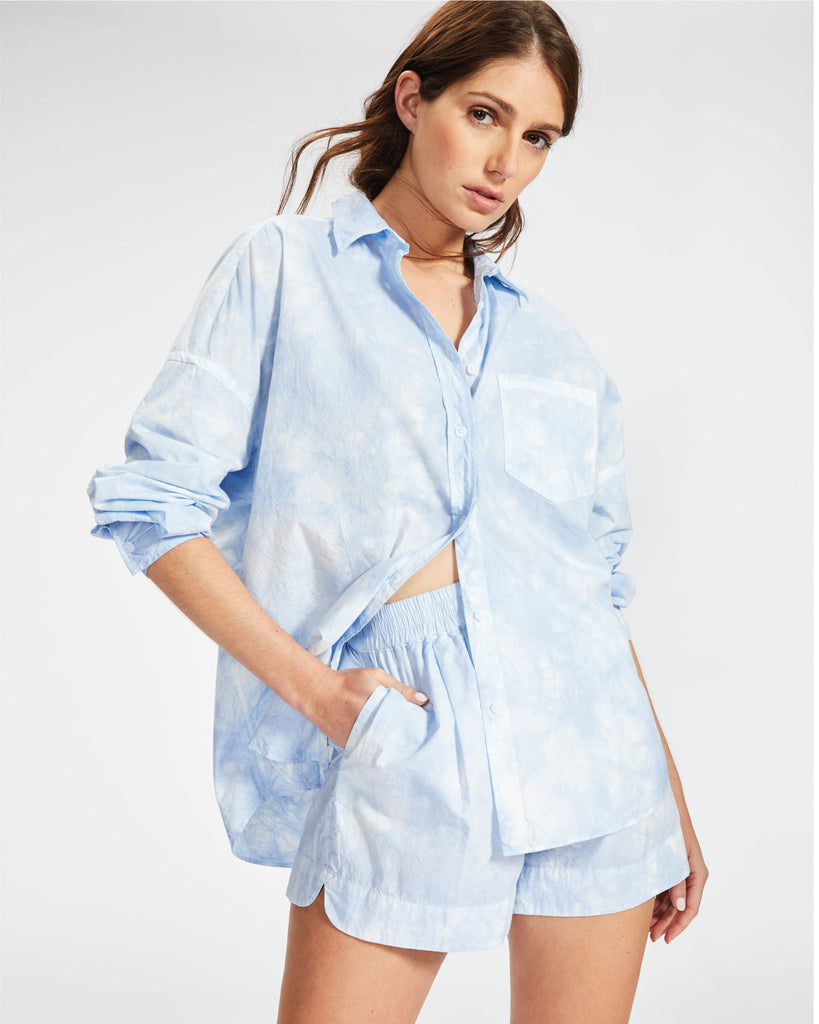 The Chiara Shirt - Tie Dye Sky